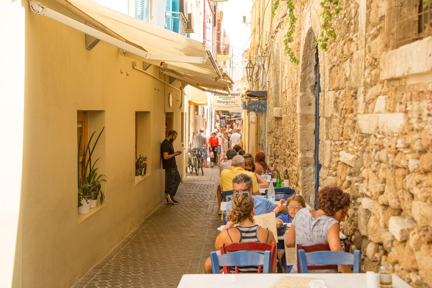 De oude binnenstad van Chania