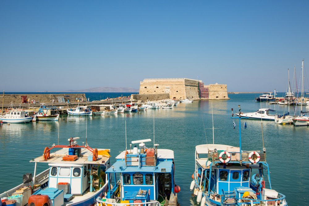 De haven van Heraklion