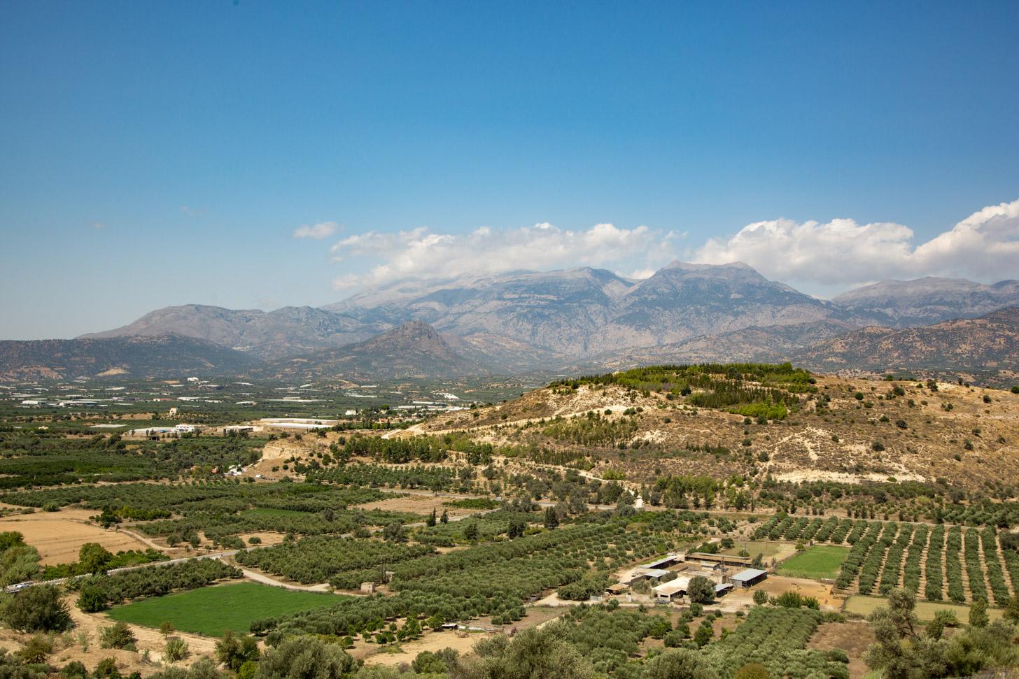 Het landschap van Kreta