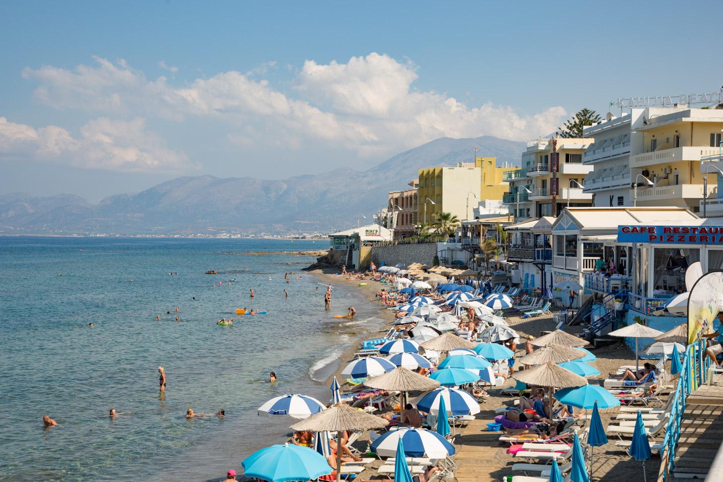 De stranden van Chersonissos